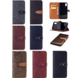 Wholesale Iphone Crocodile Leather Luxury - Luxury Crocodile Texture Shockproof Shell Wallet Flip Case Premium PU Leather Case for iphone X 8G 7 6 6S PLUS 5S SE Samsung S8 PLUS NOTE8