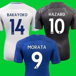 Wholesale David S - Thailand Morata BAKAYOKO Chelsea soccer jerseys 2018 HAZARD FABREGAS KANTE chelsea football soccer shirt Jerseys 17 18 3rd black david luiz
