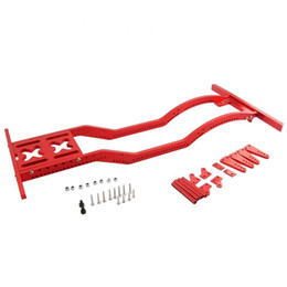 Wholesale Rc Car Frames - RC 4WD Red Aluminum Chassis Beam Frame Refit SCX10 D90 B5 JK Wrangler