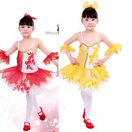 Wholesale Kids Gymnastic Dress - Newly Girls Sequined Leotard Dancewear Ballet Tutu Gymnastics Dance Dress Kids Performance Skate Costume Child Salsa Dress