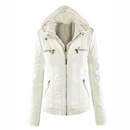 Wholesale Leather Hoodie Women - Wholesale- Hoodie jacekt fashion solid color jacket 2016 leather noble women ladies warm outwear jacket