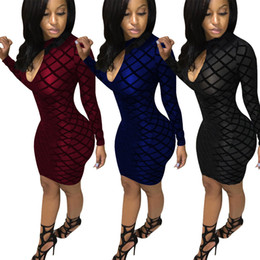 Wholesale Adult Satin Night - 2016 Fashion Women Mini DRESSES Perspective flocking sleeveless dress Sequin Hollow out Perspective Sexy Sling Dress