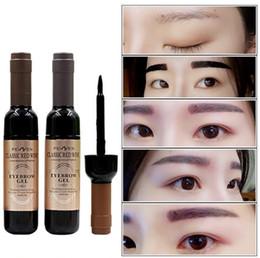 Wholesale Make Up Korea Wholesale - EMS DHL Free LONG Lasting Perfect Eyebrows Gel 3 Colors Korea cosmetics Peel off type Make Up Brown Gel Waterproof Eyebrow Enhancers