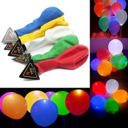 Wholesale Halloween Balloons Wholesale - LED Balloon Light Ball Glowing Balloon 12inch Latex Helium Balloons Christmas Halloween Decoration Wedding Birthday Party Supplies OOA2583