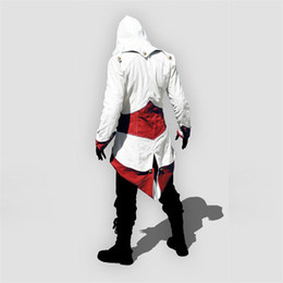 Wholesale Cool Male Jackets - 2017 Latest Wholesale Assassins Creed 3 Cosplay Overcoat 12 Colors Fashion Assassin's Creed Cool Men Tops Slim Connor Jacket