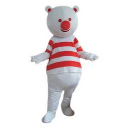 Wholesale Red Bear Mascot Costume - Red Bear Monster Mascot Costumes Cartoon Character Adult Sz 100% Real Picture
