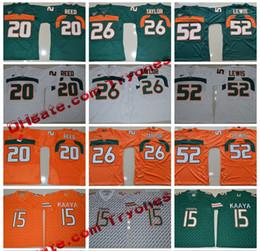 Wholesale Red Blue Ray - 2017 Miami Hurricanes 15 Brad Kaaya College Football Jerseys 26 Sean Taylor Elite 52 Ray Lewis 20 Ed Reed Throwback College Football Jerseys