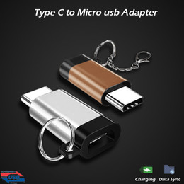 Wholesale Micro Usb Otg Cable Adapter - Hot USB 3.1 Type C Cable Adapter Micro USB Female to Type-C Male OTG Converter USB-C Charging For LG G6 Oneplus 3T Sony Xperia