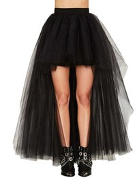 Wholesale High Low Tutus - 2017 New Designed Black High Low Petticoat Elegant Women Skirts Three Layers Summer Tutu Skirts Free Shipping CPA805