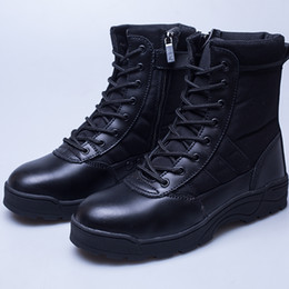 Wholesale Safety Shave - Men Shaving leather Boots Work Polyester Shoes Safety Protective Shoes Shock absorption Non-slip Wear-resistant Rubber sole