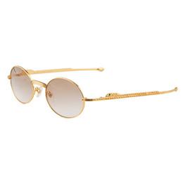 Wholesale Stainless Leg - 18k Gold Diamonds vintage Sunglasses Brands for Men Women luxury Brand Designer Metal Frame Sun Glasses Straight Leg CT1180148