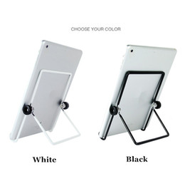 Wholesale Tablet Pc For Sale - Wholesale- Hot sale Universal Metal Adjustable 180 Degree Foldable Tablet PC Stand Holder for reading or watching videos for iPad
