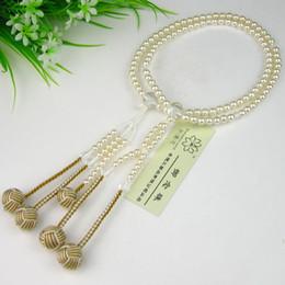 Wholesale Pearl Craft Beads - wonderful lotus Craft SGI beads Japanese ojuzu nenju soka gakkai buddhist mala S size Material plastic pearl Free Shipping