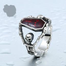 Wholesale Offbeat Wholesale - Jewelry wholesale non mainstream offbeat Vampire Diaries Ring Titanium Skull Ring Coffin glue