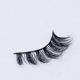 Wholesale hair extensions feathers real - 3D Mink lashes 100% Thick real mink HAIR false eyelashes natural for Beauty Makeup Extension fake Eyelashes false lashes D18