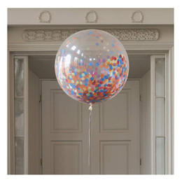 Wholesale Air Suppliers - 36 inch Confetti Balloons Giant Clear Balloons Party Wedding Party Decorations Birthday Party Suppliers Air Balloons WD263AA
