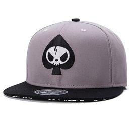 Wholesale Oem Hats - Fashion Street Adjustable Flat Peak Caps Whole Fashion Hat Skull head Snapback Cap Men Women OEM Adult Hip hop Baseball caps
