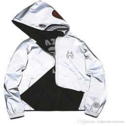 Wholesale Sweater Zip - Wholesale- Japanese styles Shark Hoodie Men Women fashion Harajuku Cool fun Cartoon Sweater Jacket WGM Full Zip Hoodie Fleece Cardigan Sweat