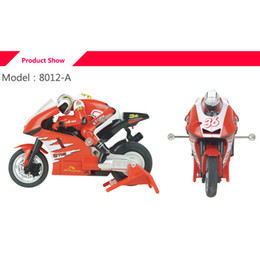 Wholesale high speed motorcycle - Wholesale- 2.4GMhz 1:20 3CH High Speed Remote Control Electric Mini RC Motorcycle Moto Bike