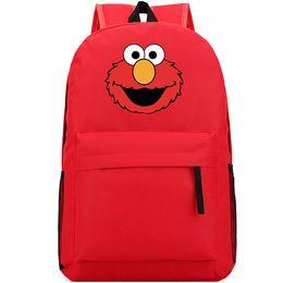 Wholesale Elmo Boys - Sesame Street backpack Elmos world daypack Elmo schoolbag Telecast rucksack Sport school bag Outdoor day pack