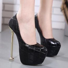 Wholesale Sexy Ladies Heel Shoes - 16cm Milan fashion super high heels women pumps sexy lady party shoes Size 34 To 40