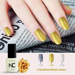 Wholesale Organic Nails Wholesale - Wholesale- Art Salon Tips Metalic Fingernails Golden Colors Soak off Organic UV LED Nail Gel Varnish Smalto Gel Glitter Matte Varn Nailsgel
