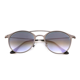 Wholesale Top Candy Brands - Top Quality Women Oval Sunglasses Fashion Female Retro Reflective Mirror Sunglasses men Candy Famous Brand Designer with leather case 3546