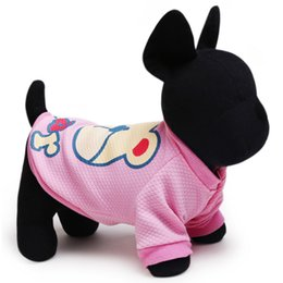 Wholesale Dog Clothes Bear - Free shipping New Arrivals cute bear dog vests in Spring and summer dog clothes 2 colors 5 size universal for all dogs