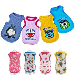 Wholesale Chihuahua Winter Clothes - Summer Dog Cartoon Vests Pet Clothes for Small Dogs Costume Sports Pet Clothes for Chihuahua York Ropa Para Perros XS-XL