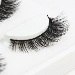 Wholesale real mink fur lashes - 100% handmade real mink fur false eyelash 3Dstrip mink lashes thick fake faux eyelashes Makeup beauty
