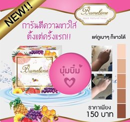 Wholesale Oil For Soaps - New Bumebime Handwork Whitening Soap with Fruit Essential Natural Mask White Bright Oil Soap free shiping DHL