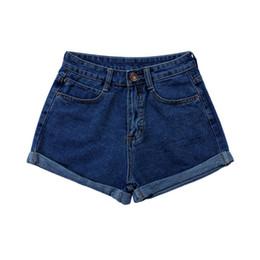 Wholesale Woman Korean Short Pants - Wholesale- Summer High Waist Stretch Denim Shorts Slim Korean Casual Women Jeans Short Pants S-4XL