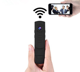 Wholesale Micro Mini Wireless Hidden Cameras - Motion Activated Mini Portable WiFi Wireless Spy Camera Pen Hidden Video Recorder with IR Night Vision Micro DVR Remote Viewing Wide Angle