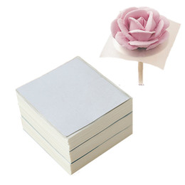 Wholesale Paper Flower Tool - Wholesale- 50Pcs Cream Cake Icing Piping Flower Decorating Paper Wedding Pastry Tool Kitchen Baking Disposable Accessories