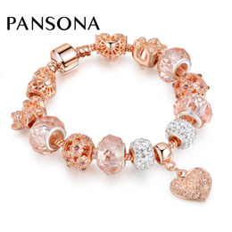Wholesale Quality Jewellery - High Quality Luxury Crystal Heart Charm Bracelets & Bangles Gold Bracelets For Women Jewellery Pulseira Feminina As Gift AA156