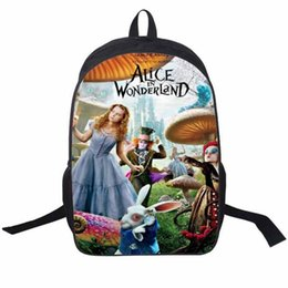 Wholesale Trendy Stylish Bag - Trendy 2016 cute school bag for girls cool stylish alice in wonderland children school backpack teenager kids shoulder schoolbag