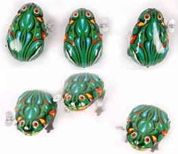 Wholesale Wind Up Toys Free Shipping - Kids Tin Wind Up Clockwork Toy Jumping Frog Toys For Children Boys Educational Free Shipping