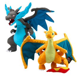 Wholesale Evolution X - Wholesale-25cm Pikachu Plush Doll Stuffed Toy Mega Evolution X&Y Charizard Soft Stuffed Plush Doll Cartoon Gift for Kid Free Shipping