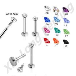 Wholesale Lip Bar Jewellery - 36pcs lot 316L Surgical Steel 18G Internally Threaded Labret Monroe Lip Bar Ring Stud Piercing Body Jewellery