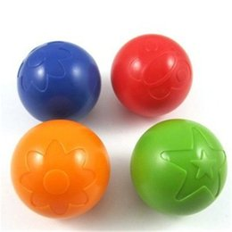 Wholesale Funny Water Sports - Wholesale- Eco-Friendly Plastic Water Pool Ball Baby Funny small grab bell ball rattle Toys ball outdoor fun sports