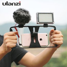 Wholesale Rig Video - Ulanzi Smartphone Video Handle Rig Filmmaking Stabilizer Case movie youtube videos  get Led Light & Rode VideoMicro microphone