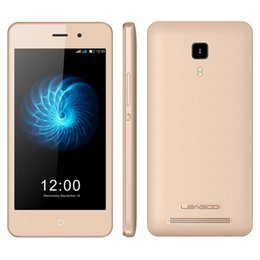 Wholesale India Stocks - LEAGOO Z3c Smartphone 512GB RAM 8GB ROM 4.5 Inch Android 6.0 Mobilephone 3g Quad Core Dual Camera Free case All Colors in Stock Smartphone