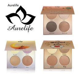 Wholesale Wine Skins Wholesale - Lowest Price New Brand Aurelife 4 Color Too Matte Eye Shadow Palette for Faced Nake Makeup Set for Glow Illuminating Kit Eyeshadow