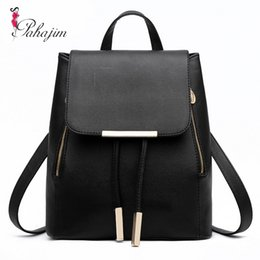 Wholesale Polyester Cost - Wholesale- PAHAJIM 2017 Most Cost-effective Backpack New Arrival Vintage Women Shoulder Bag Girls Fashion Schoolbag High Quality Women Bag