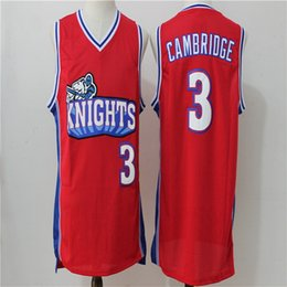 Wholesale Mike Knight - Like Mike Movie Knights #3 Cambridge Basketball Jersey Embroidered and Stitched white red