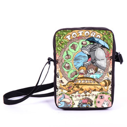 Wholesale School Spirit - Wholesale-Anime Tonari no Totoro   Spirited Away Mini Messeng Bag Character Hatsune Miku School Bags Girls Book Bag Butterfly Women Bags
