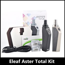 Wholesale System Units - 100% Original Eleaf Aster Total Kit With 1600mah Battery 2ml Top Filling Tank Bypass Mode Voltage System Compact Unit with an Internal Tank