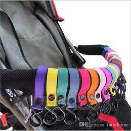 Wholesale Baby Clip Hangers - Baby Stroller 2 Hook Pram Carriage Hanger Pushchair Hanging Hooks Trolley Suitable Strap Shopping Bag Handbag Hook Hanger Clips Carrier B909