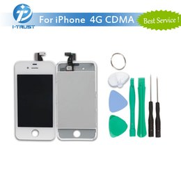 Wholesale Iphone Replacement Screens Cdma - High Quality LCD Display For iPhone 4G CDMA 100% Tested Repair Replacement Parts With Free Tools & Free Shipping