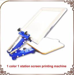 1 sérigraphie couleur unique impression sérigraphique machine de sérigraphie manuelle de bureau ? partir de fabricateur